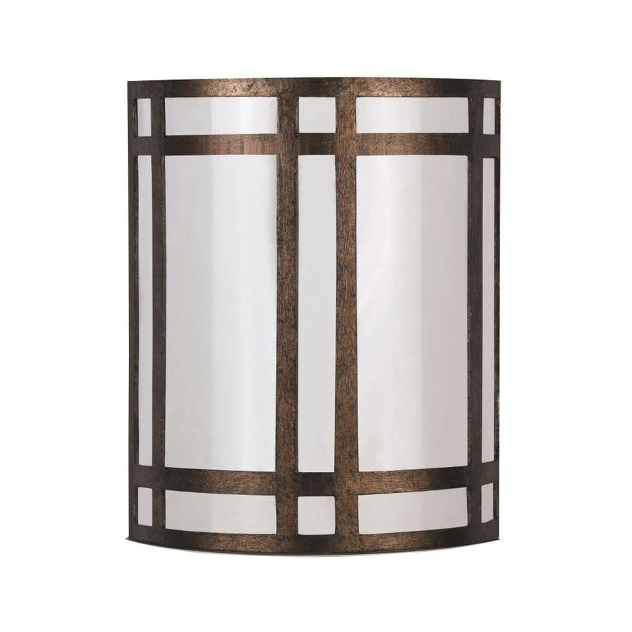 Axis 16-in W 1-Light Rust Corner Hardwired Wall Sconce