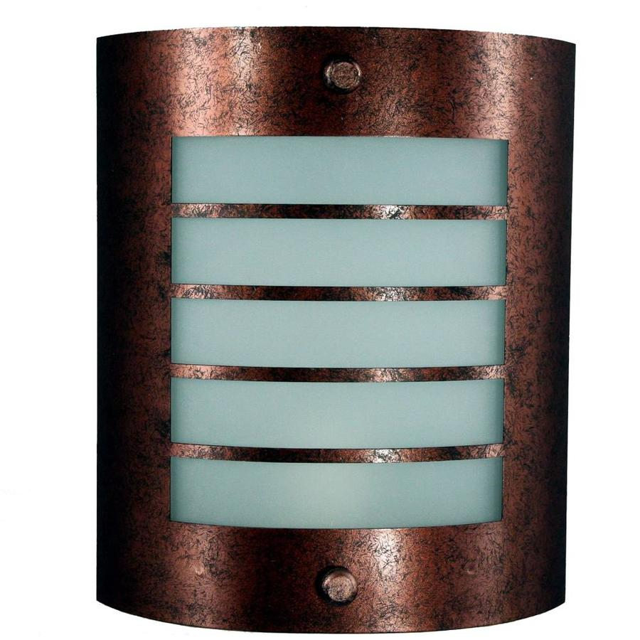 Axis 17.5-in W 1-Light Rust Corner Wall Sconce