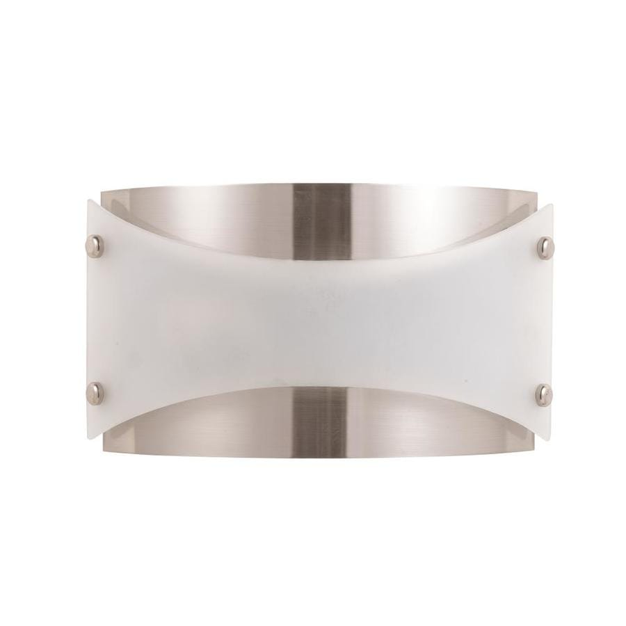 Axis 16.1-in W 1-Light Brushed Steel Corner Wall Sconce