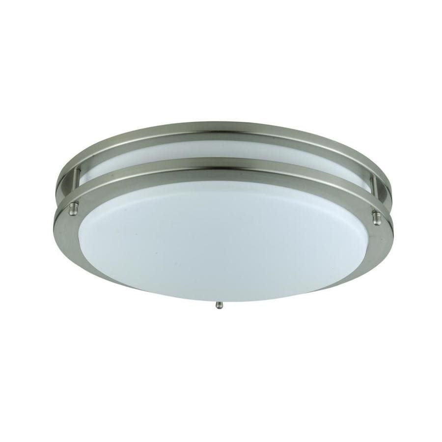 Axis 12-in W Rust Flush Mount Light
