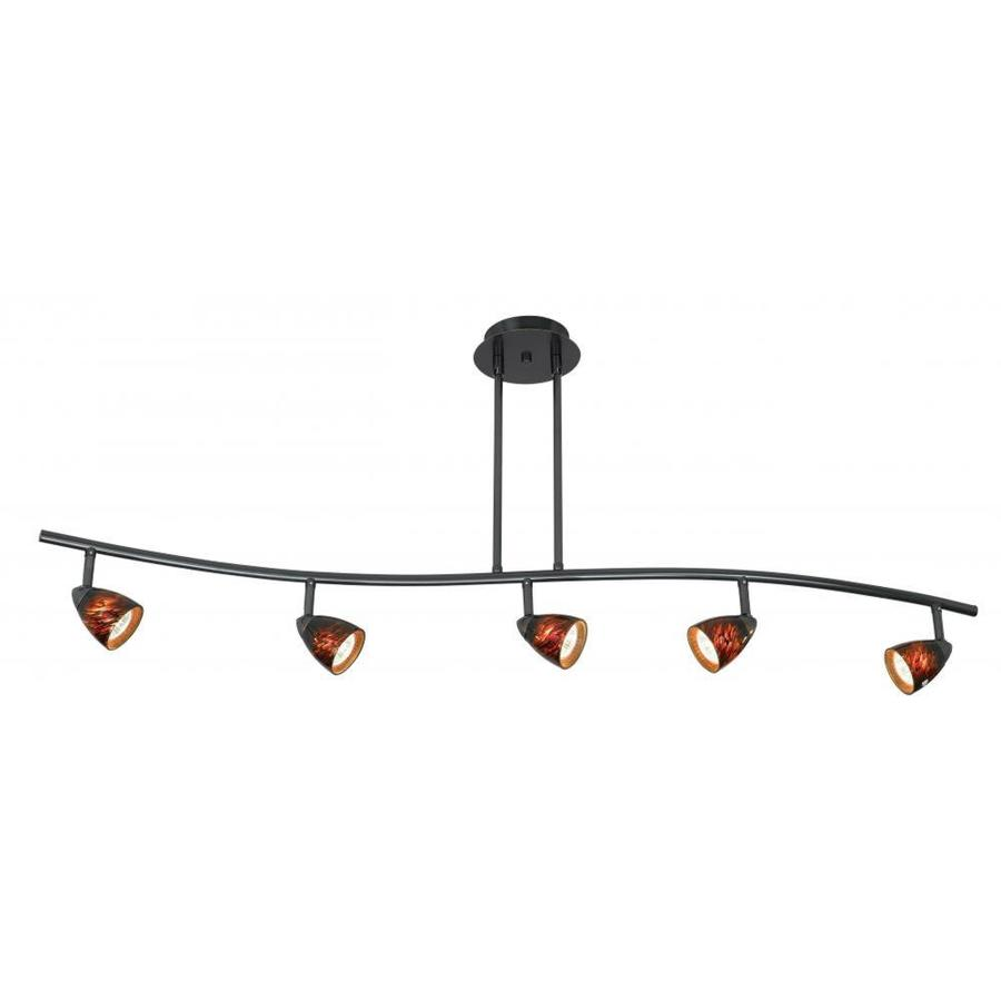 Axis 5-Light 48-in Dark Bronze Fixed Track Light Kit