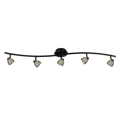 Cal Lighting Serpentine 5 Light 48 In Black Dimmable