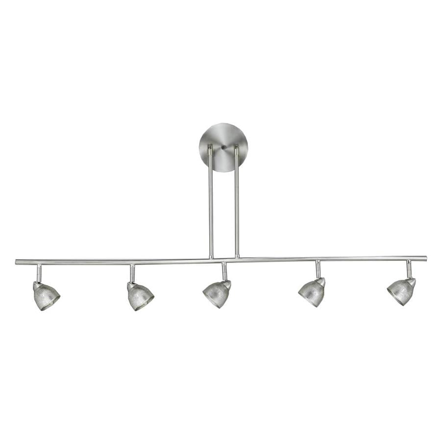Axis 5-Light 48-in Brushed Steel Standard Fixed Track Light Kit