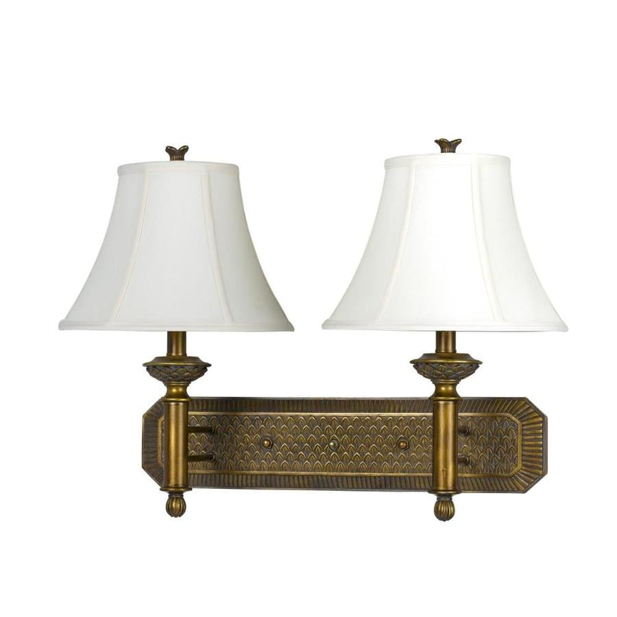 Axis 12-in W 2-Light Antique gold Arm Wall Sconce