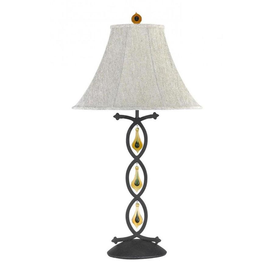 Axis 8-in 3-Way Indigo Indoor Table Lamp with Fabric Shade