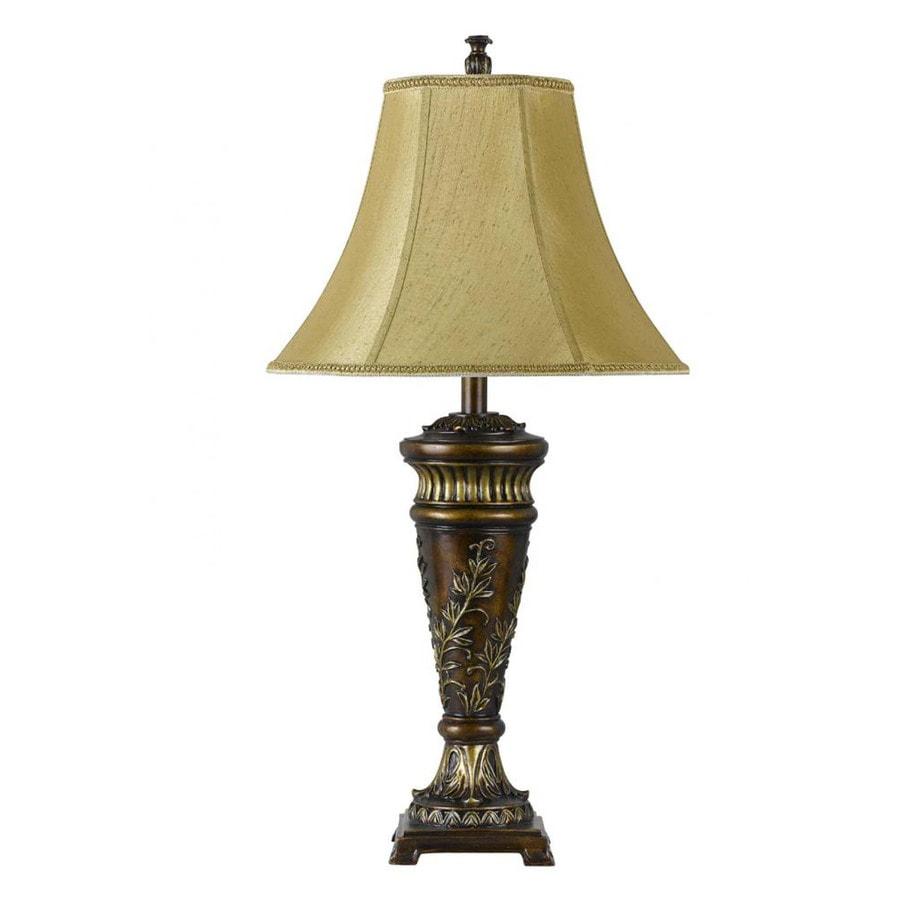 Axis 31-in 3-Way Dark Bronze Indoor Table Lamp with Fabric Shade