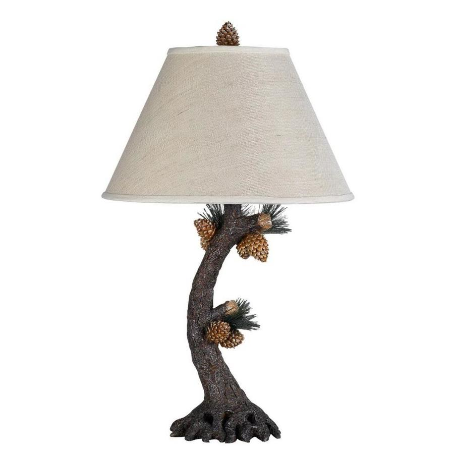 Axis 20-in 3-Way Check Board Granite Indoor Table Lamp with Fabric Shade