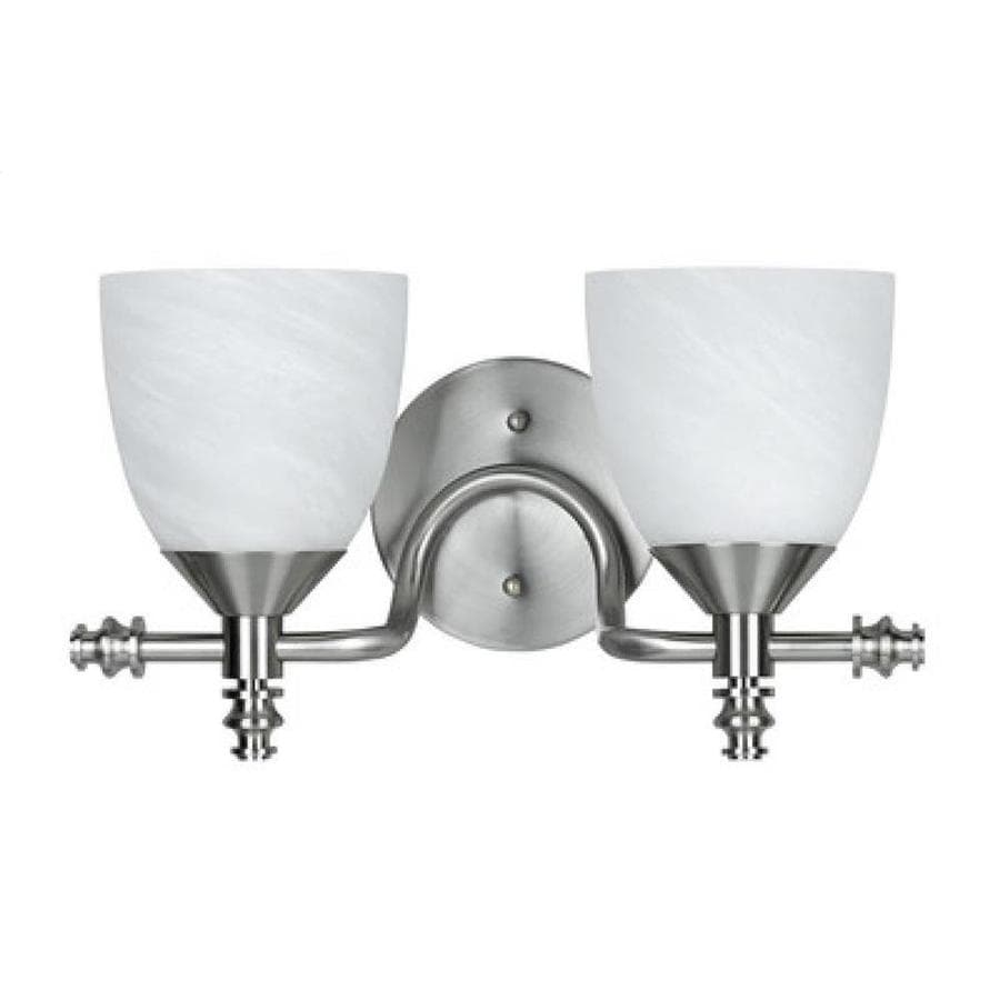 Axis 2-Light 18-in Brushed Steel Vanity Light