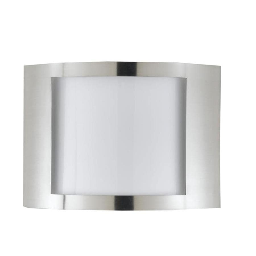 Shop Axis 12-in W 1-Light Brushed Steel Corner Wall Sconce at Lowes.com