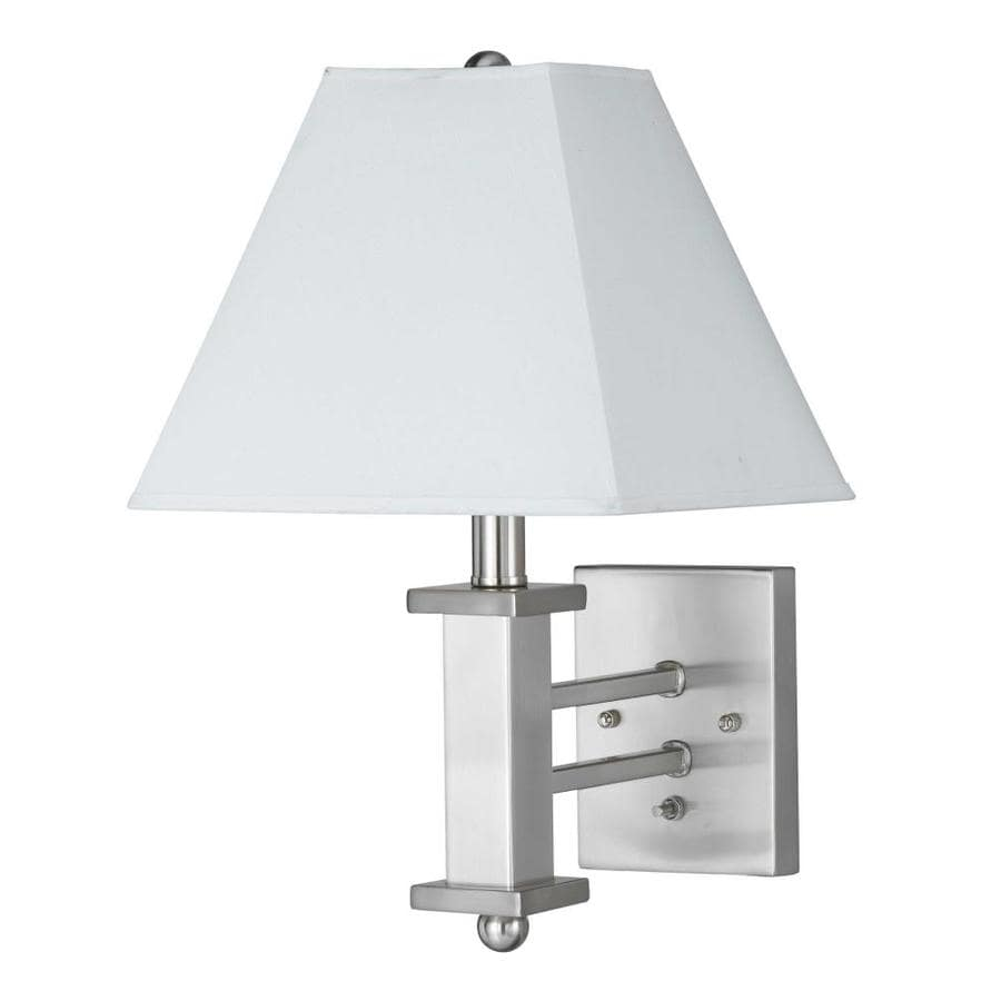 Axis 9-in W 2-Light Brushed steel Arm Wall Sconce