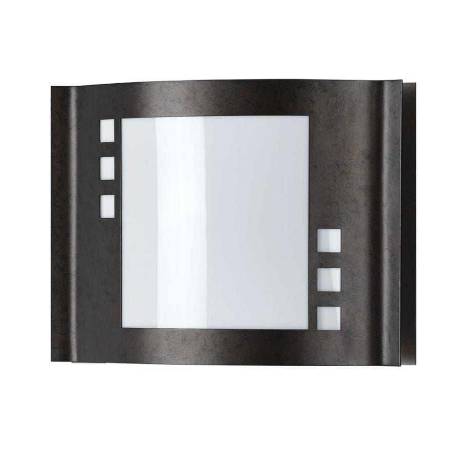 Axis 12-in W 1-Light Rust Corner Hardwired Wall Sconce