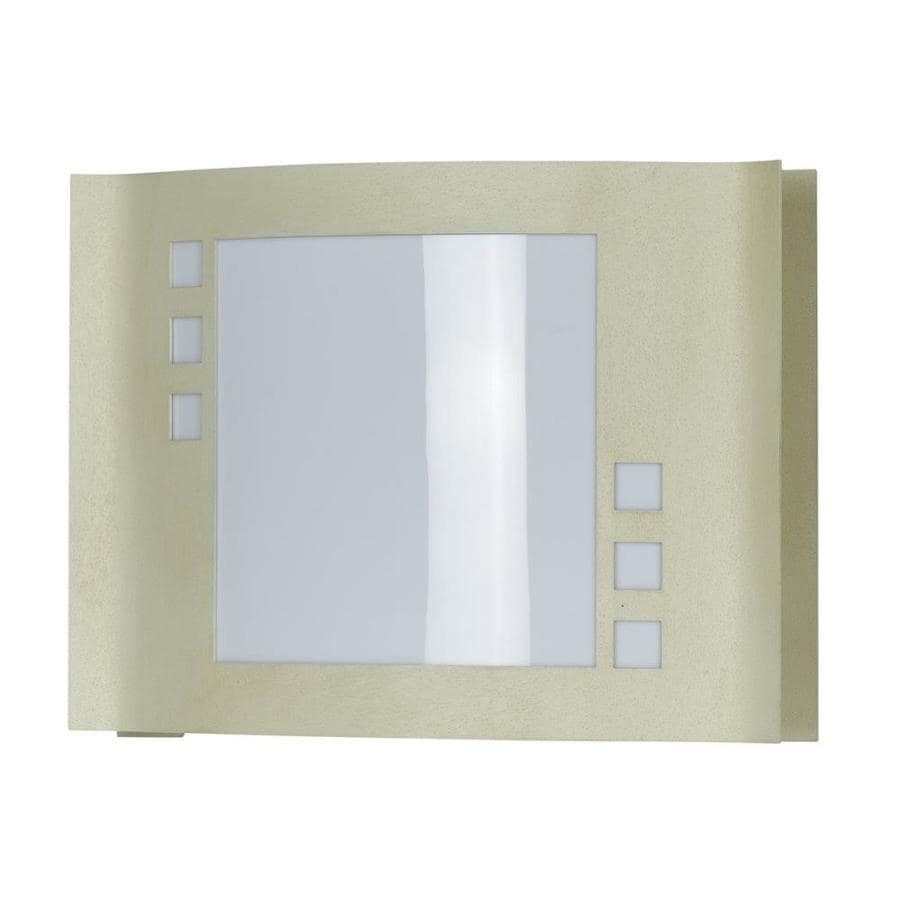 Axis 12-in W 1-Light Beige Corner Hardwired Wall Sconce