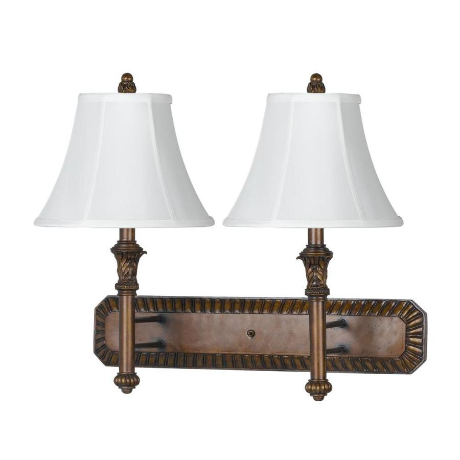 Axis 8-in W 2-Light Antique gold Arm Wall Sconce