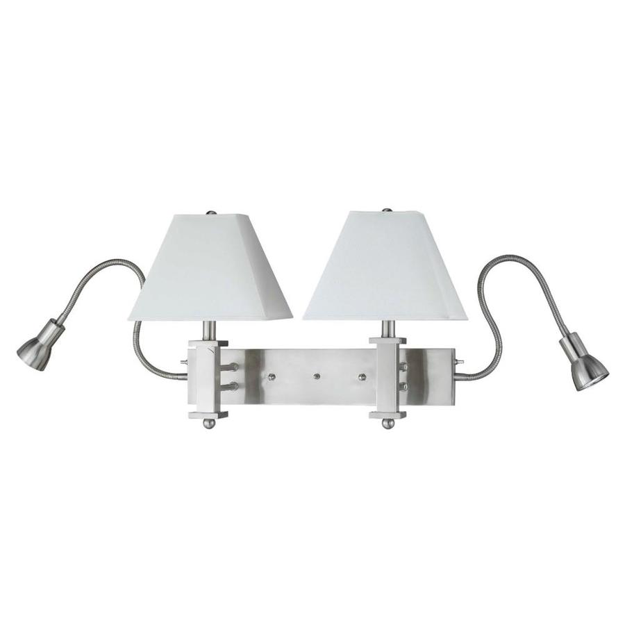 Axis 7-in W 2-Light Brushed Steel Arm Wall Sconce