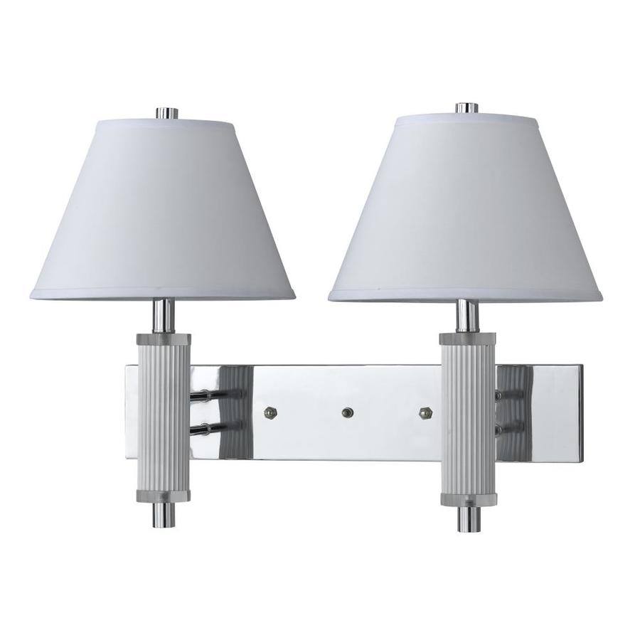 Axis 12-in W 2-Light Chrome Arm Hardwired Wall Sconce