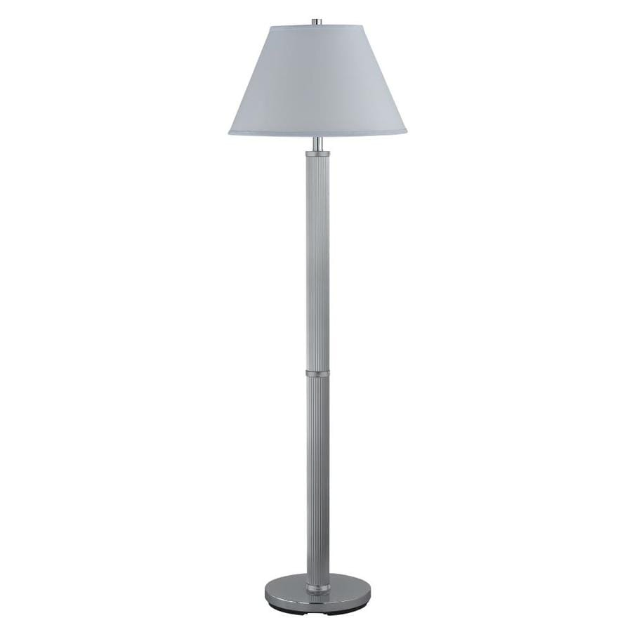 Axis 21-in Chrome 3-Way Torchiere Floor Lamp with Fabric Shade