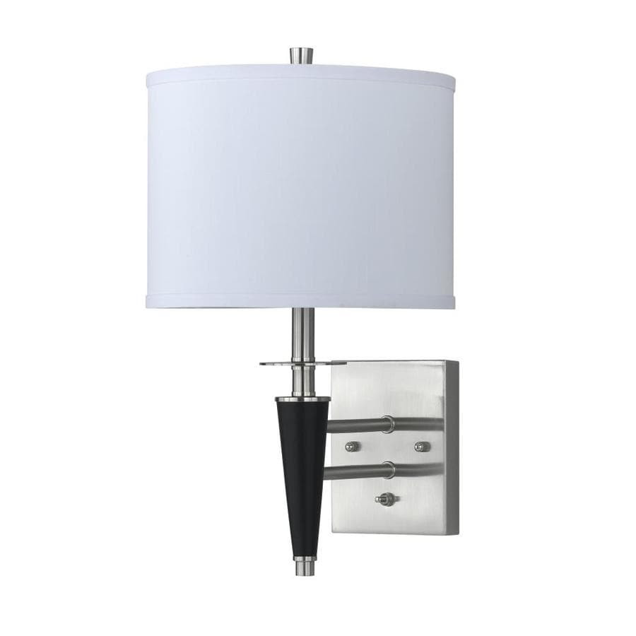 Axis 8-in W 2-Light Brushed Steel Arm Wall Sconce