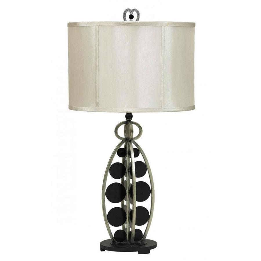 Axis 15-in 3-Way Dark Bronze Indoor Table Lamp with Fabric Shade