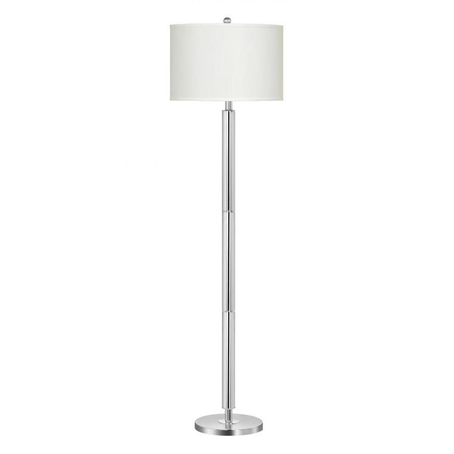 13 in chrome 3 way torchiere floor lamp with fabric shade at. Black Bedroom Furniture Sets. Home Design Ideas
