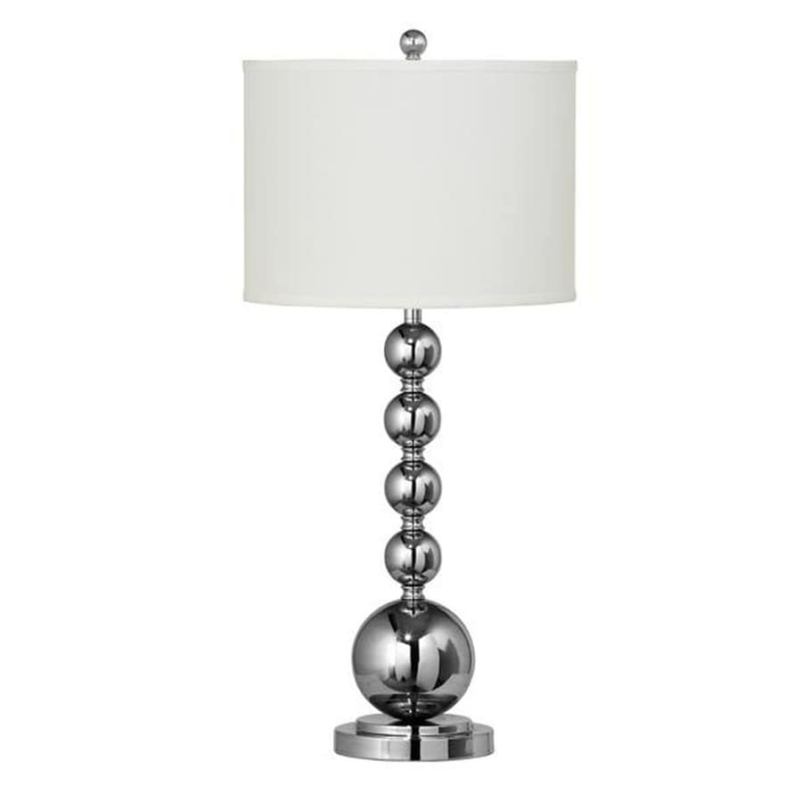 Axis 17-in 3-Way Chrome Indoor Table Lamp with Fabric Shade