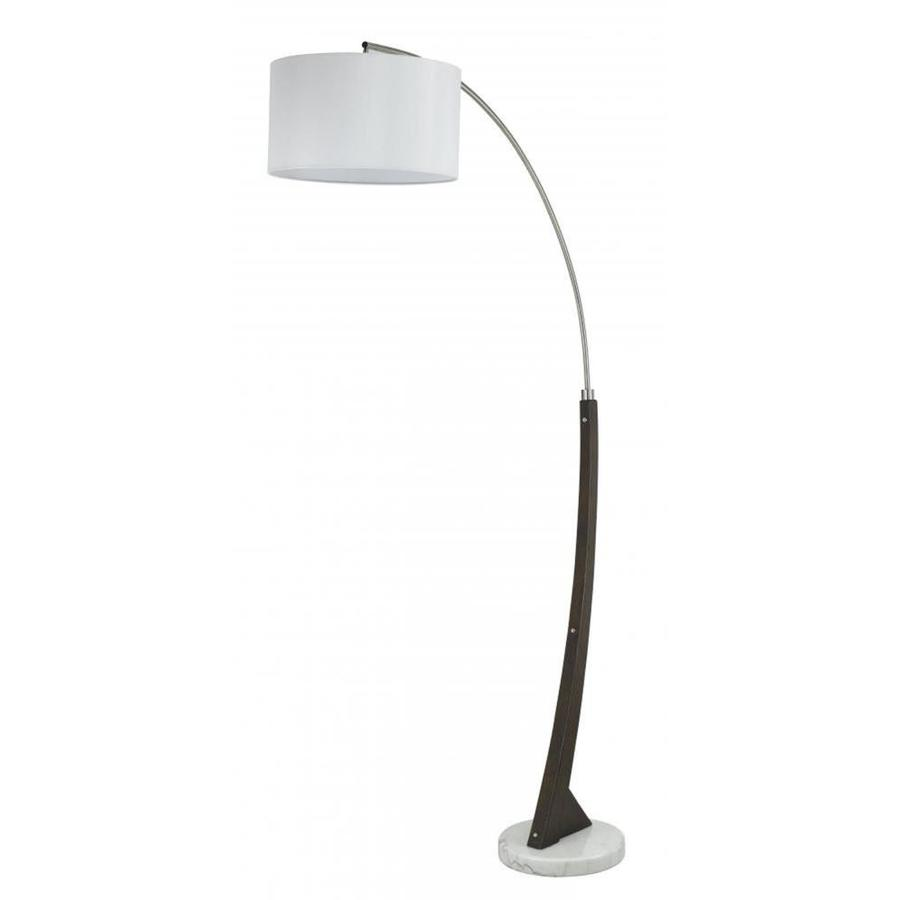 Axis 16 In Wood 3 Way Torchiere Floor Lamp With Gl Shade
