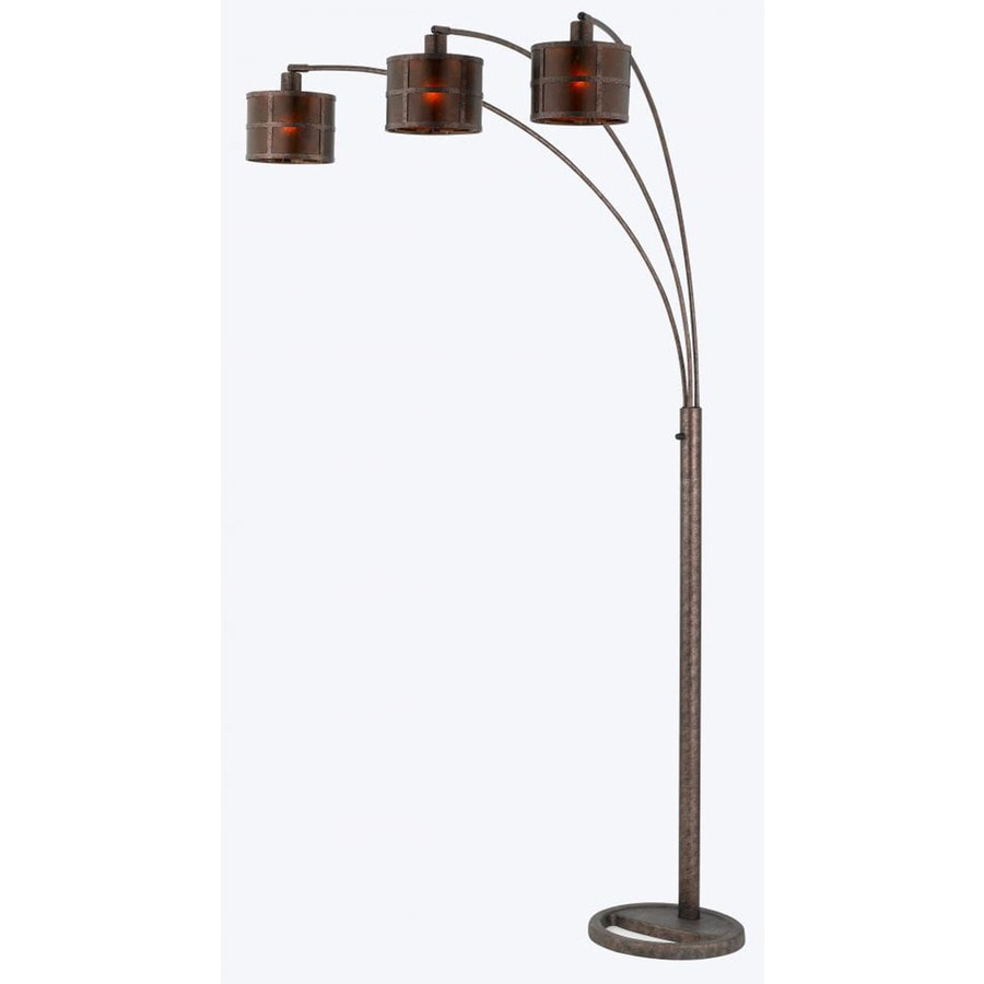 Axis 82-in 3-Way Switch Rust Indoor Floor Lamp with Tiffany-Style Shade
