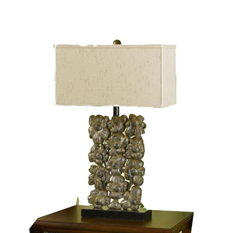 Axis 19-in 3-Way Argent Indoor Table Lamp with Fabric Shade