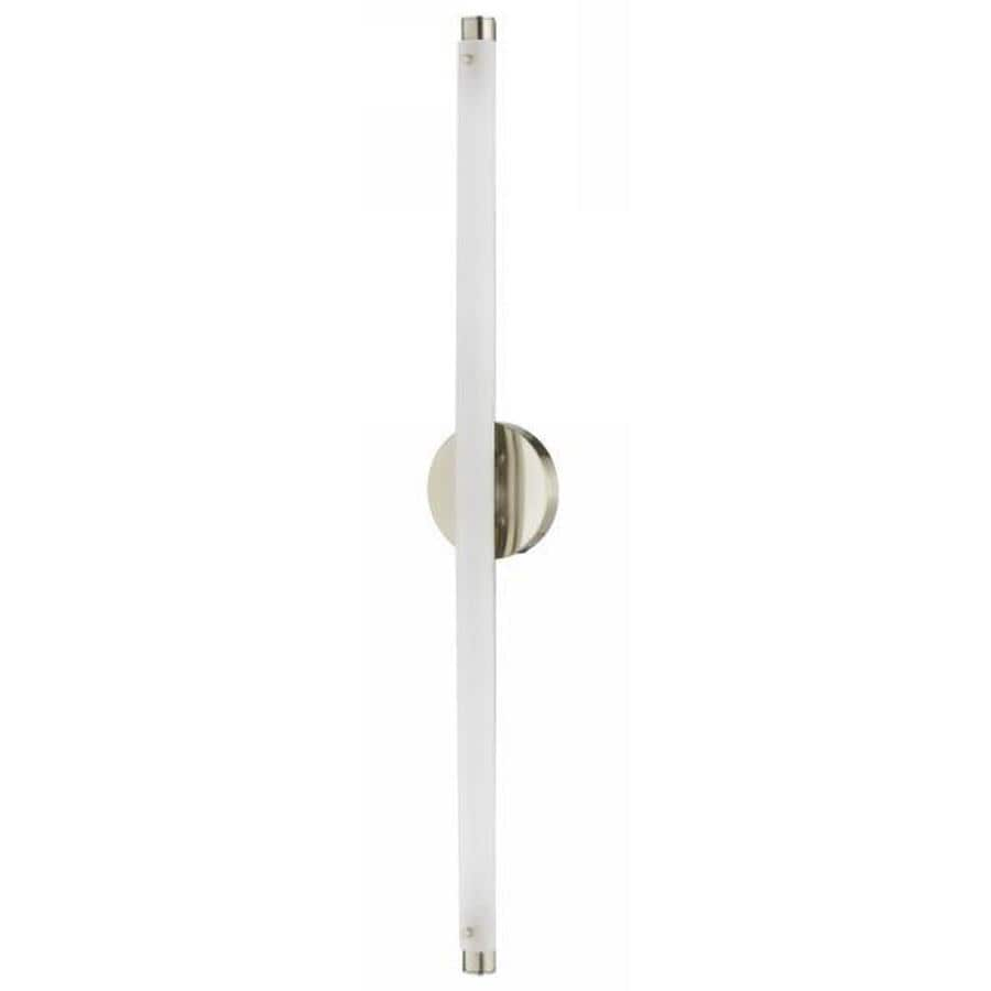 Axis 6.6-in W 1-Light Brushed Steel Arm Wall Sconce