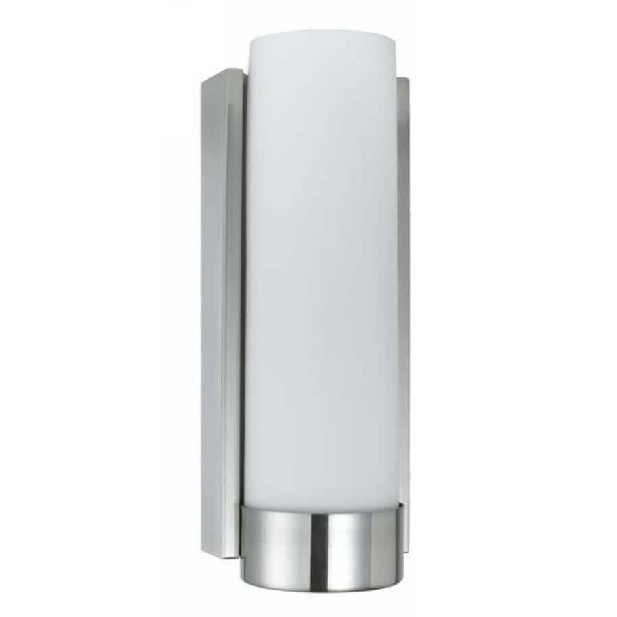 Corner Wall Sconce Light : Shop Axis 14-in W 1-Light Brushed Steel Corner Wall Sconce at Lowes.com