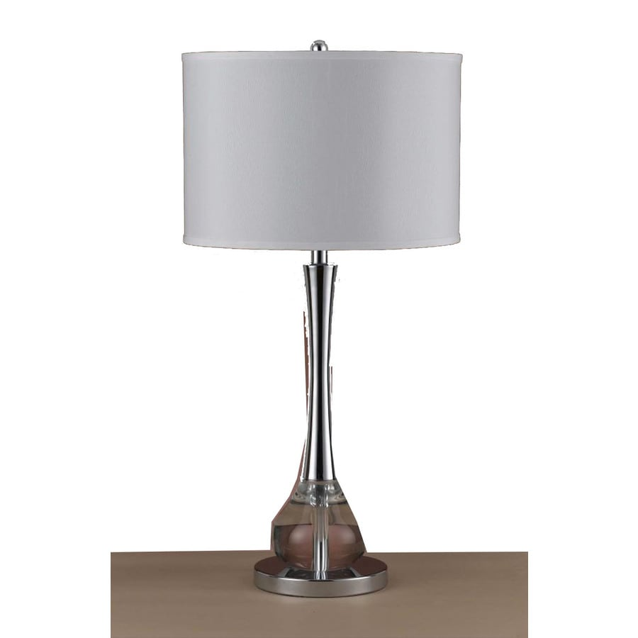 Axis 31-in 3-Way Crystal Indoor Table Lamp with Fabric Shade
