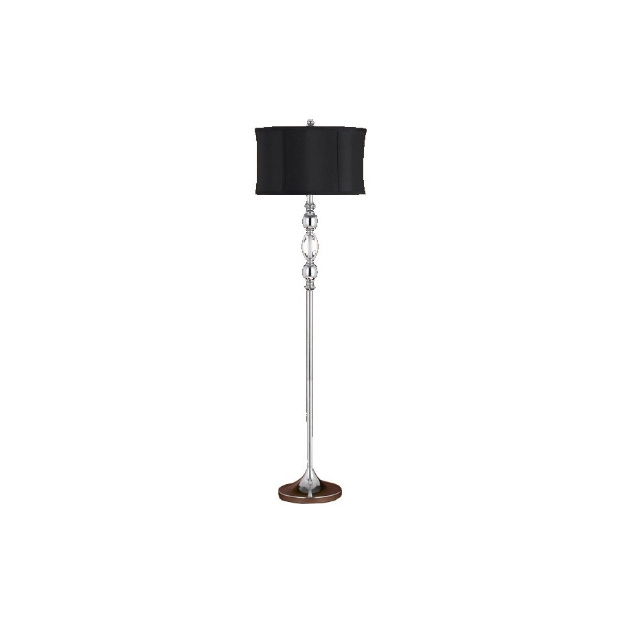 Axis 90-in 3-Way Switch Crystal Torchiere Indoor Floor Lamp with Fabric Shade