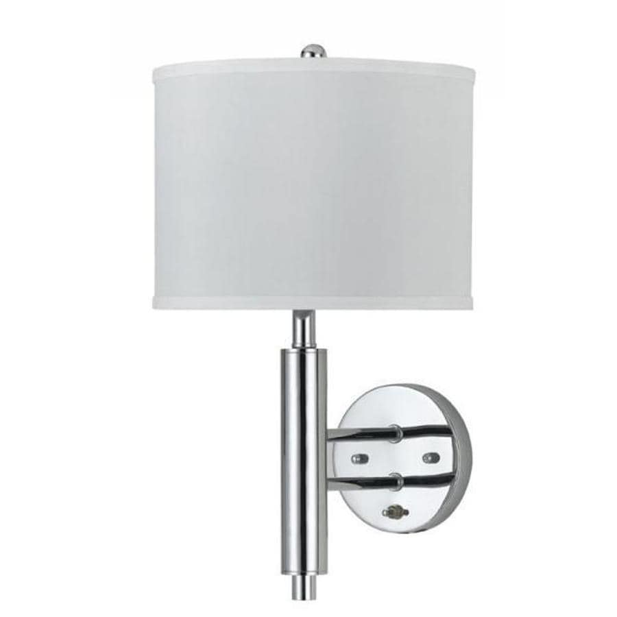 Axis 11.5-in W 1-Light Brushed Steel Arm Wall Sconce