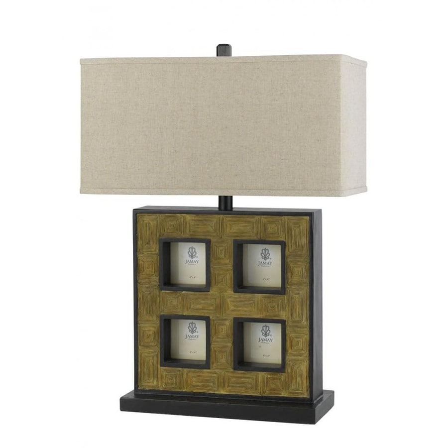 Axis 16-in 3-Way Cocoa Indoor Table Lamp with Fabric Shade