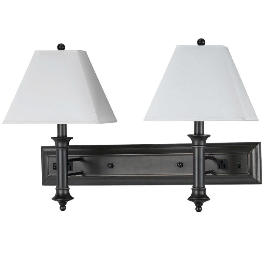 Axis 12-in W 2-Light Black Arm Hardwired Wall Sconce