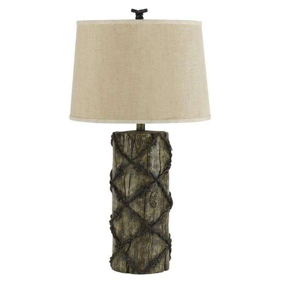 Axis 46-in 3-Way Rust Indoor Table Lamp with Fabric Shade