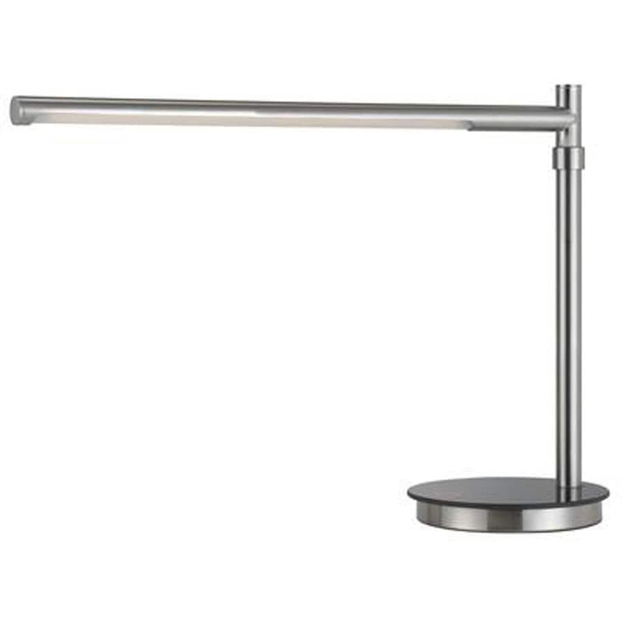 Axis 17-in Brushed Steel Touch On/Off Indoor Table Lamp with Metal Shade