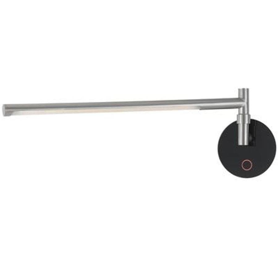 Axis 5.5-in W 1-Light Brushed Steel Arm Wall Sconce