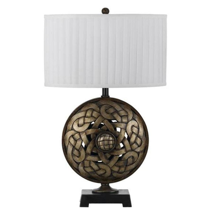 Shop 15 In Argent Electrical Outlet 3 Way Switch Table Lamp With To Fabric Shade