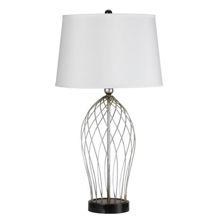 Axis 18-in 3-Way Wire Indoor Table Lamp with Fabric Shade