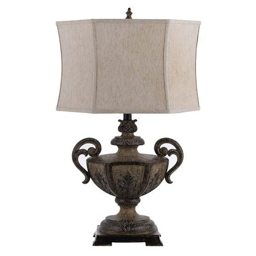 Axis 16-in 3-Way Earth Indoor Table Lamp with Fabric Shade