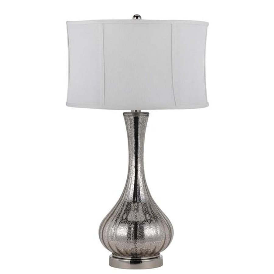 Axis 25-in 3-Way Aged Glass Indoor Table Lamp with Fabric Shade