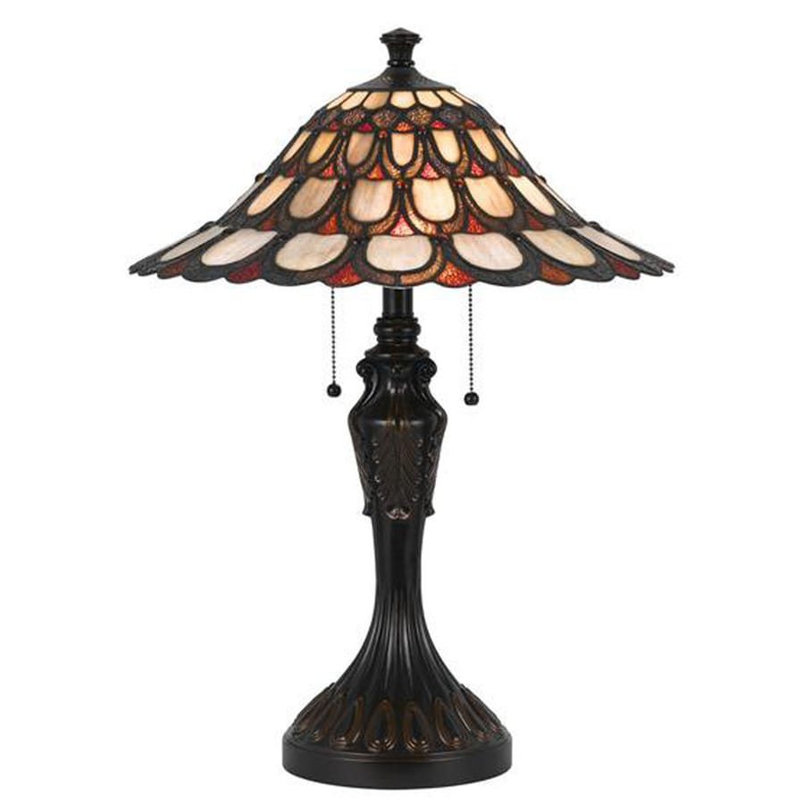Axis 24-in 3-Way Dark Bronze Indoor Table Lamp with Glass Shade
