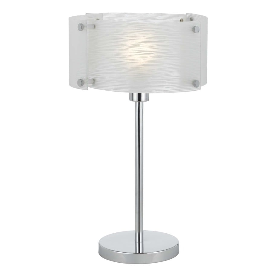 Axis 20.5-in 3-Way Chrome Indoor Table Lamp with Glass Shade