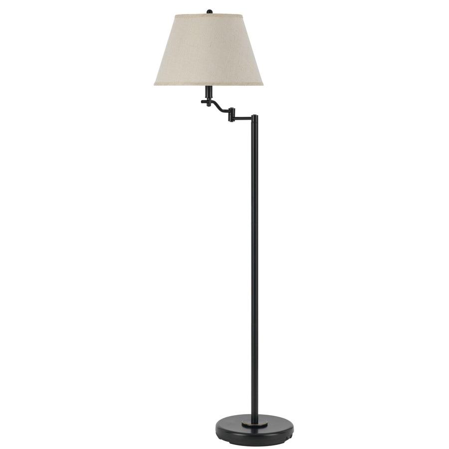 Axis 60-in 3-Way Switch Dark Bronze Torchiere Indoor Floor Lamp with Fabric Shade