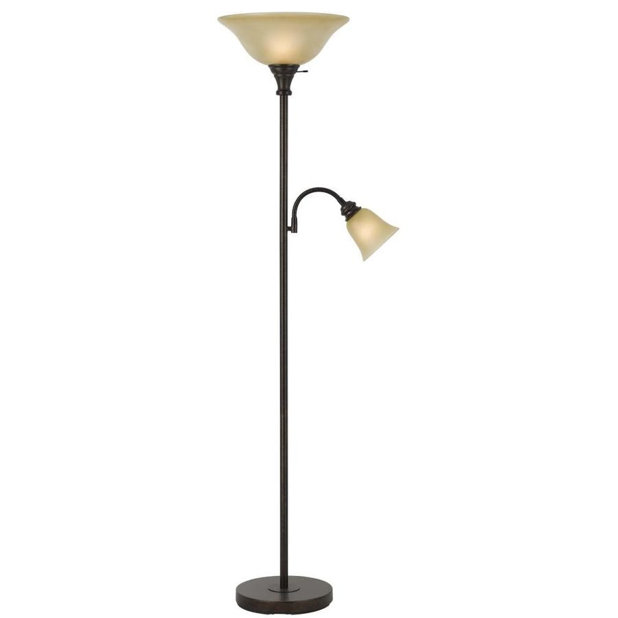 Shop axis 71 in rust 3 way torchiere with reading light for Livorno 3 way floor lamp