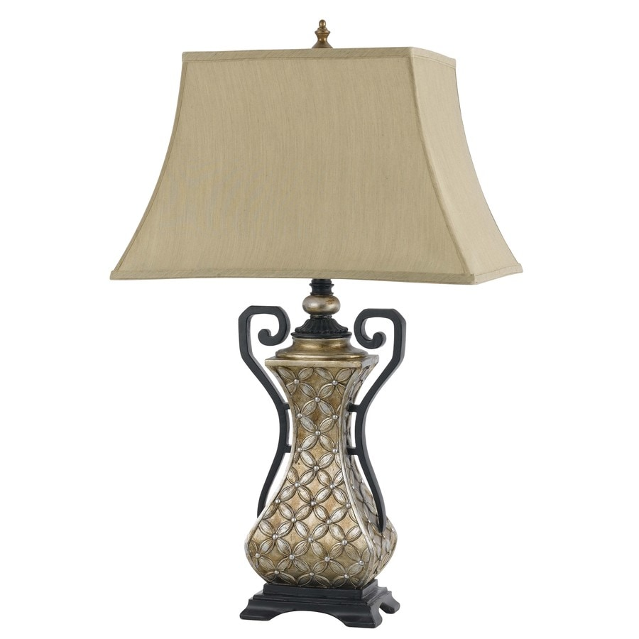 Axis 22.5-in 3-Way Bronze Indoor Table Lamp with Fabric Shade