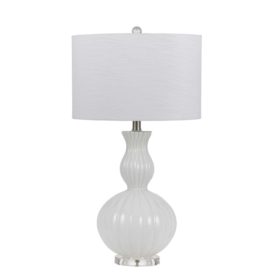 Axis 27-in 3-Way White Indoor Table Lamp with Fabric Shade