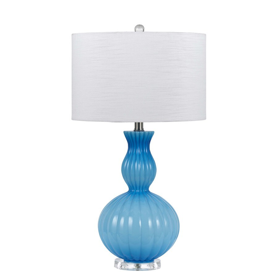 Axis 27-in 3-Way Blue Indoor Table Lamp with Fabric Shade