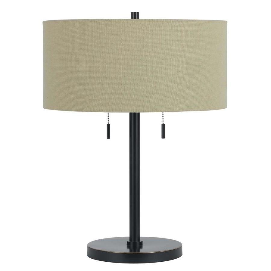 Axis 23.5-in 3-Way Dark Bronze Indoor Table Lamp with Fabric Shade