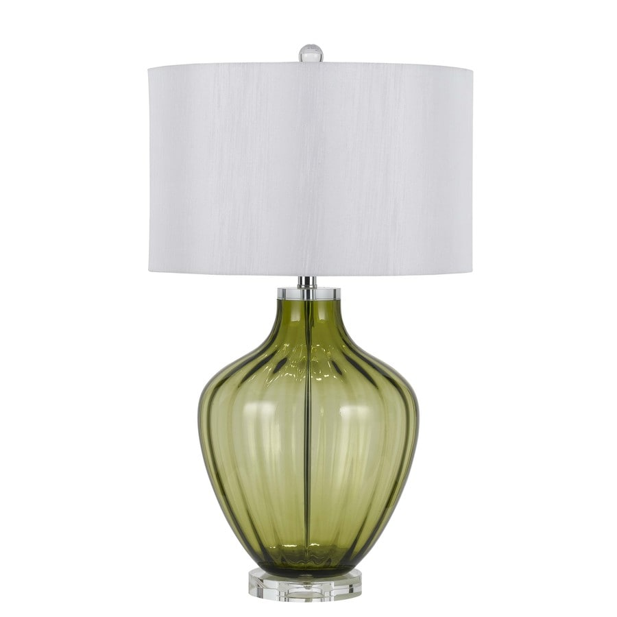 Axis 30-in 3-Way Green Indoor Table Lamp with Fabric Shade